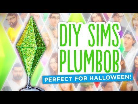 DIY Sims Diamond/Plumbob - Easy Halloween 2014 Costume! - YouTube