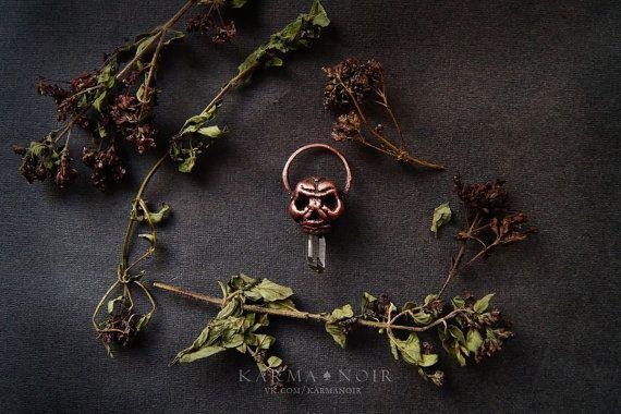 #бохо #gipsy #bohochic #darkboho #witch #witchy #fantasy #handmade   Gothic necklace skull necklace crystal boho jewelry от KarmaNoire