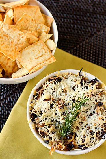 Baked Asiago and Caramelized Onion Hummus: Hummus Dip, Asiago Hummus, Recipe, Food, Baked Asiago, Onion Hummus, Dips