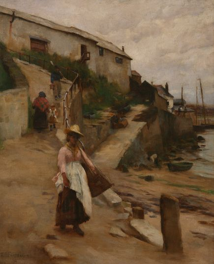 William Fortescue, Old Newlyn Harbour, Penlee House Gallery and Museum Penzance Cornwall UK