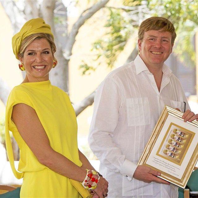 30-04-2015 King Willem-Alexander and Queen Maxima in Bonaire