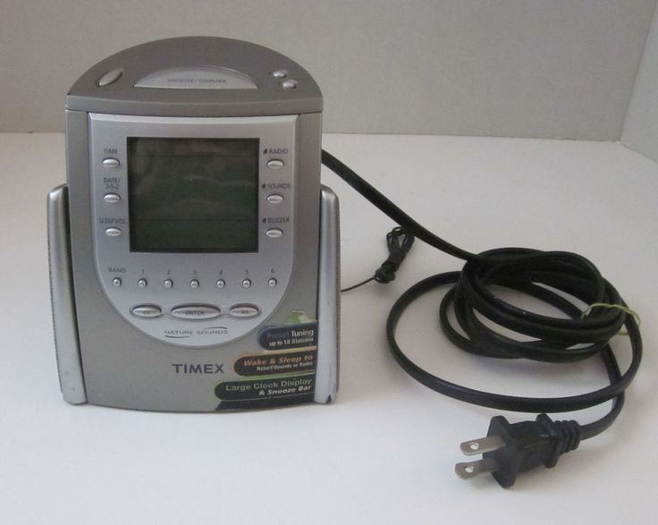 Timex T309T Triple Alarm Clock AM FM Radio Nature Sounds W/ Battery Backup  #Timex
