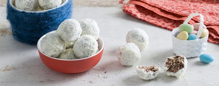 Deliciously fun Coconut Bunny Tails with a sprinkle of coconut