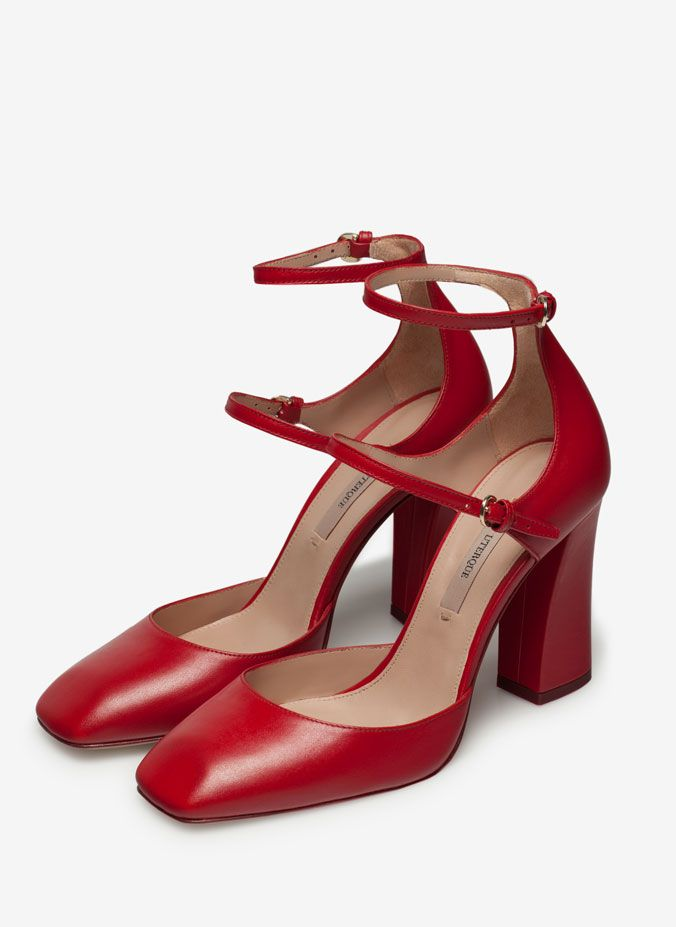 Shoes With Strap Heel