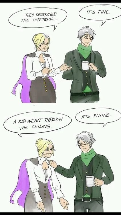 rwby | Tumblr have you ever realized that her name is Glynda Goodwitch and his name is Professor OZpin??? Just think about it