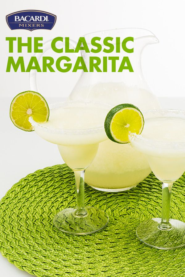 Craving that mouth-watering margarita lime flavor? Mix up a Classic Margarita no one can stop sipping! Wonderfully tarty and super refreshing for any occasion, making this Mexican masterpiece is as easy as blending BACARDI® Mixers Margarita, ice and rum, then garnishing with you guessed it, a lime!