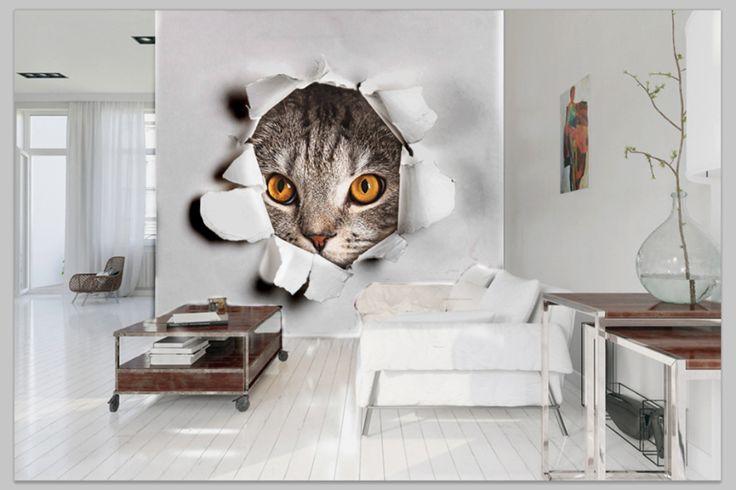 Fototapeta idealna dla wszystkich miłośników kotów  #homedecor #fototapeta #3d #aranżacjawnętrz #wystrójwnętrz #decor #desing http://www.fototapeta24.pl/getMediaData.php?id=79734033