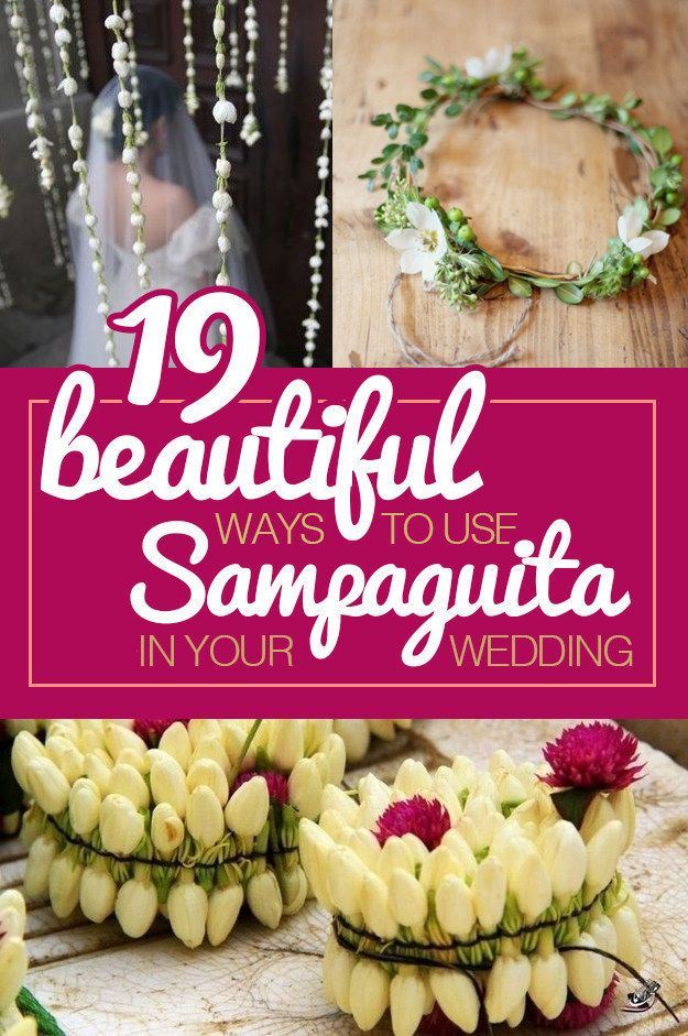 19 Beautiful Ways To Use Sampaguita Flowers In Your Wedding