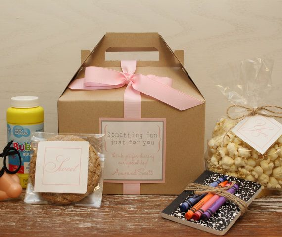 Set of 6  Kids Wedding Boxes // Kids Wedding Favor by thefavorbox, $21.00