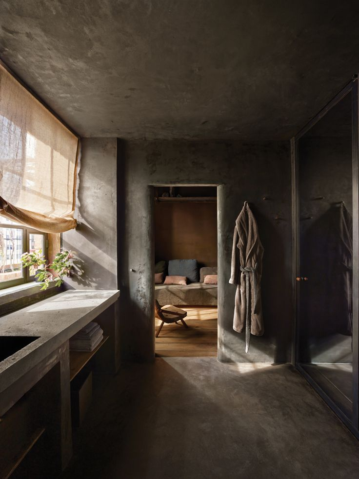 Axel Vervoordt INTERIOR OF TRIBECA PENTHOUSE GUEST BATHROOM INTHE GREENWICH HOTEL