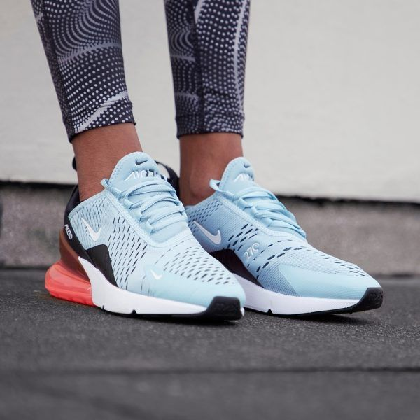 hot sale online 4a9b4 b190c NIKE AIR MAX 270 OCEAN BLISS HOT PUNCH WHITE BLACK WOMEN SNEAKER AH6789 400