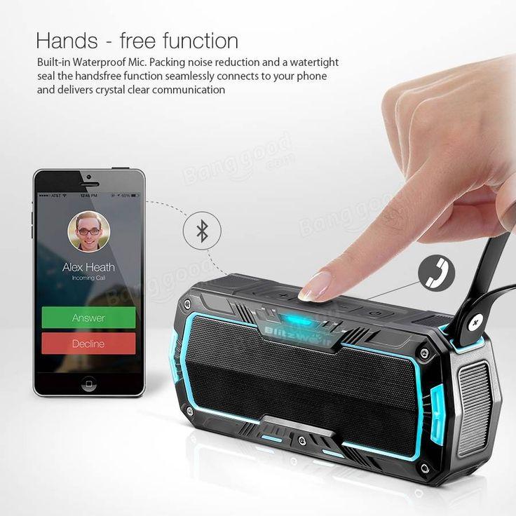 BlitzWolf® BW-F3 IPX5 Water-resistant 2*5W Outdoor Sport Bluetooth Speaker