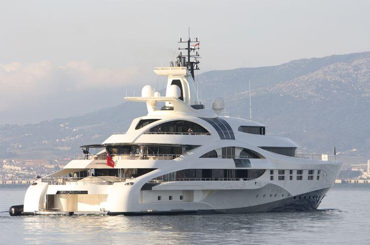 Luxury yachts | Luxury yacht Palladium in Gibraltar – Photo Credit Giovanni Rome…
