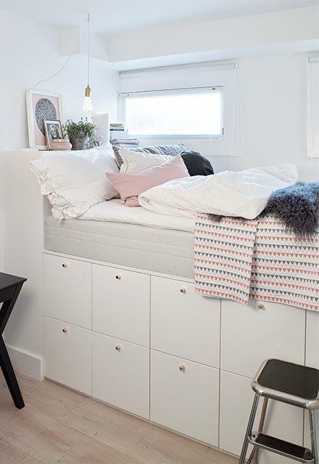Bed with storage under it