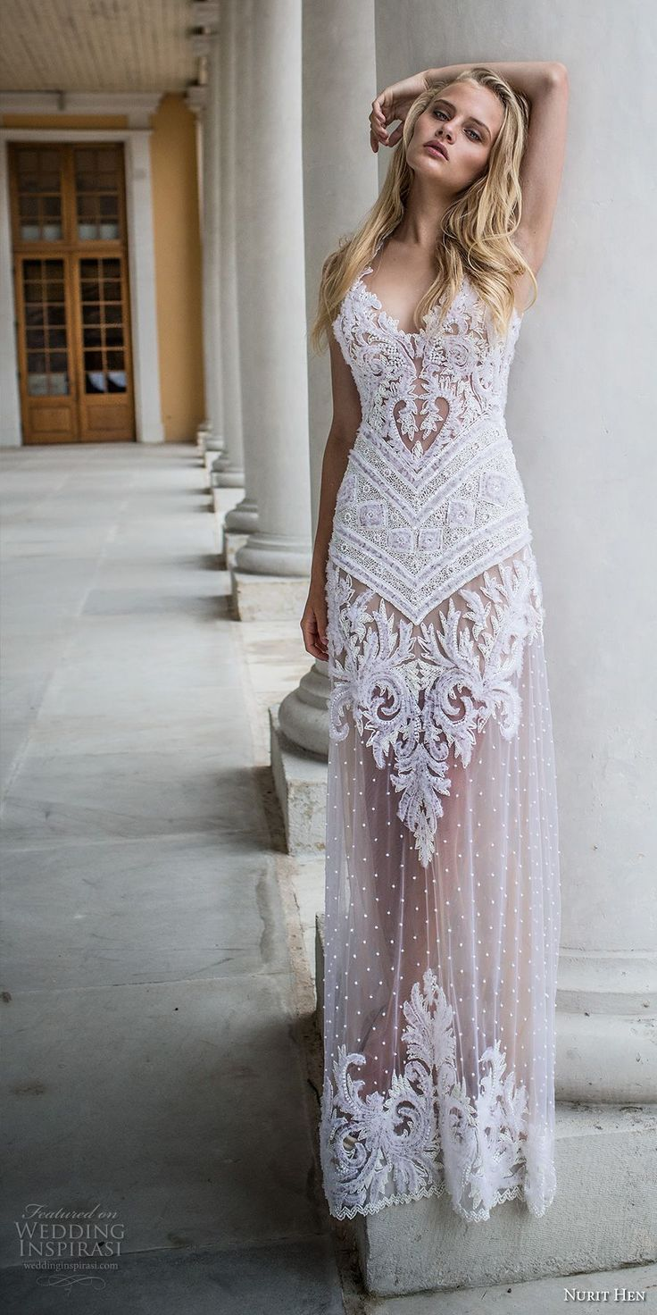 687 best images about beach weddings on pinterest destination nurit hen ivory and white 2017 wedding dresses ombrellifo Images