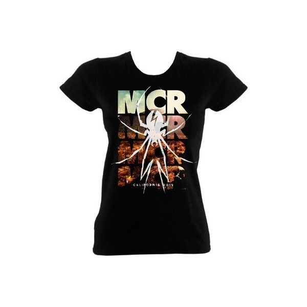 My Chemical Romance Desert Spider Black Womens Skinny T-Shirt ($23) ❤ liked on Polyvore
