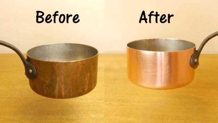 Att putsa koppar kan vara både svårt och jobbigt. Men här får du tipset som ger dig skinande kärl på mindre än en minut. Allt du behöver är salt, vinäger och en diskvamp!