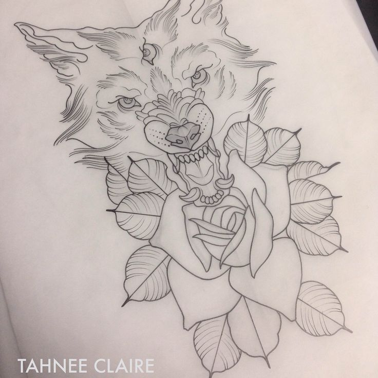 Neo Traditional Wolf  Tattoos Pinterest Mein K&246rper Und Zeichnungen