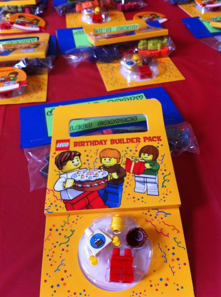 Lego birthday party favors for kids diy
