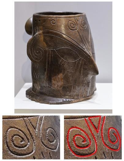 Vas antropomorf care prezintă imaginea Zeiţei-Pasăre, datat la sfârşitul mileniului al VI-lea î.e.n., descoperit într-un sanctuar aflat în apropierea punctului de control Kapitan Andreevo, Bulgaria.