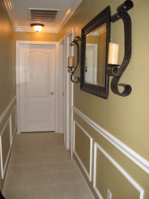 long hallway decorating ideas | Hallway redo, This was your typical boring long white hallway about 48 ...