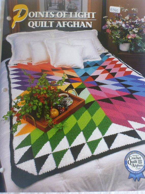 Points of Light Quilt Afghan - Annie's Crochet & Afghan club : B380