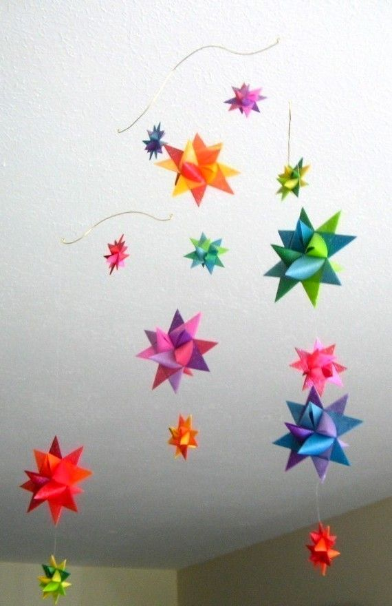baby crib mobile origami paper stars by