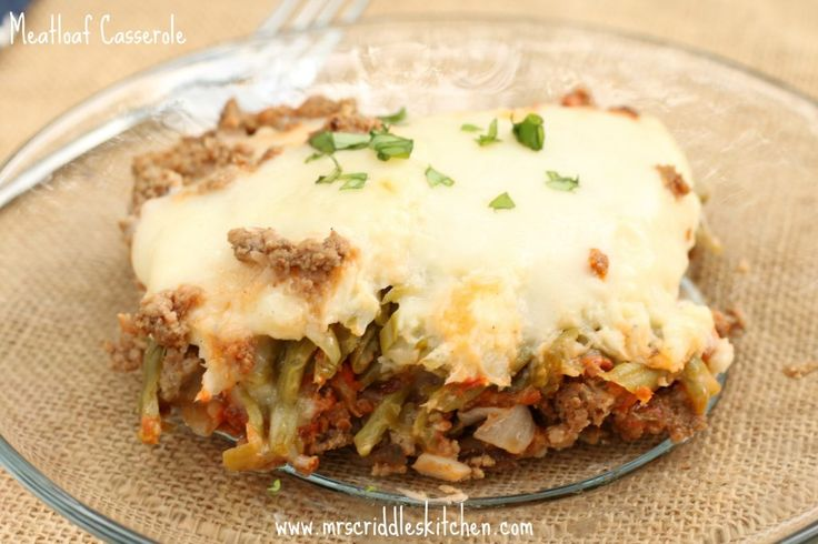 Meatloaf Casserole Thm S Low Carb Recipe Casseroles And Low Carb