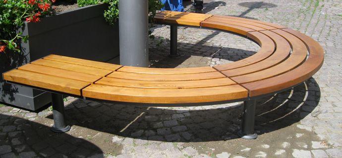 Rundbank Aurich Marktstraßen in Uelzen, Stadtmobiliar, public design, Bänke, Tische, Sitzbänke, Hockerbänke, Seating & tables, Rundbänke