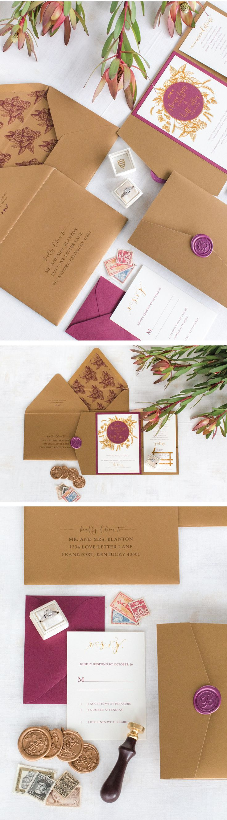 Custom Wedding Invitations that tell your love
