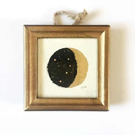 ORIGINAL Mini Moon Painting