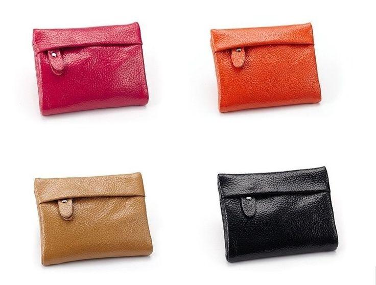 Genuine Leather women casual wallet short design wallet 100% genuine leather