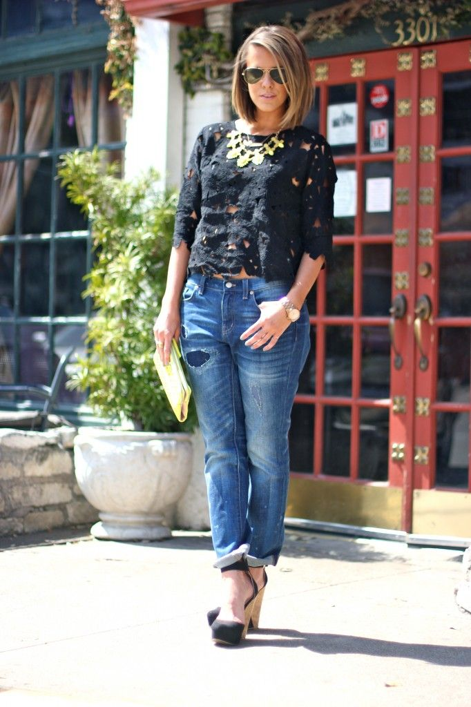 Courtney Kerr from What Courtney Wore featuring Madewell, Forever 21, Ray-Ban, Bauble Bar x Anthropologie, and Michael Kors