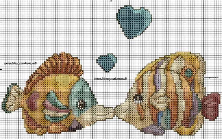 pesci thun schema punto croce