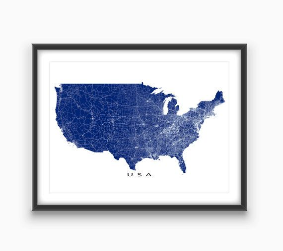 Best Usa Maps Ideas On Pinterest United States Map Map Of - Map of us blue