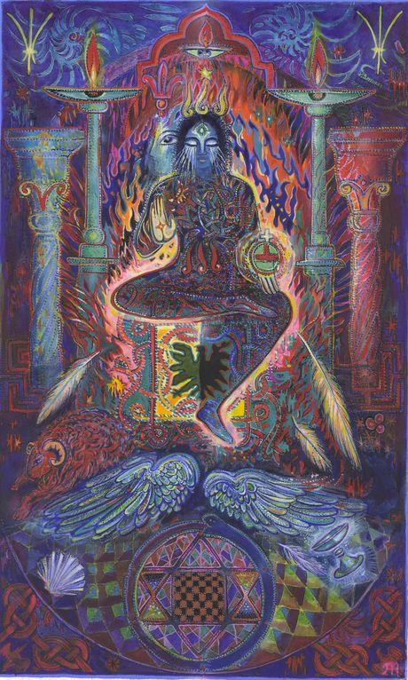Tarot de l'ange liberté+ - MYRRHA - L'Archange des nuits eternelles