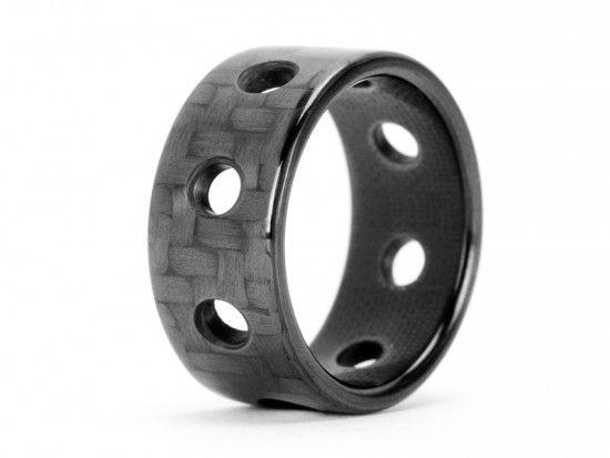 Ultra Carbon Fiber Ring - Bullet / Polished  $159