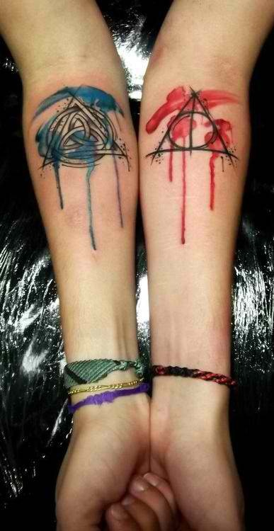 Watercolor tattoos. Definitely would not get the watercolors but would try to find another way to incorporate color into the tattoos.
