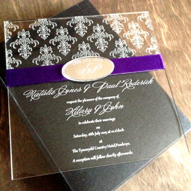 south african traditional wedding invitations samples%0A Damask Acrylic Wedding Invitation