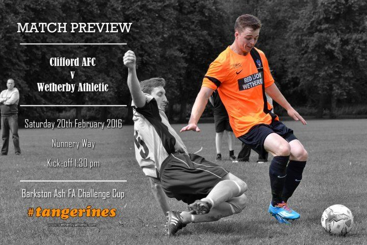 MATCH REVIEW: Clifford AFC - Wetherby Eye Semi-Final Place In Challenge Cup. http://www.wetherbyathletic.com/news/match-preview--clifford-afc-1569228.html