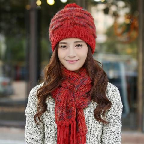 8c46c2025 Pin by BUYHATHATS LIMITED on Womens knit hat and scarf set 2018 best ...