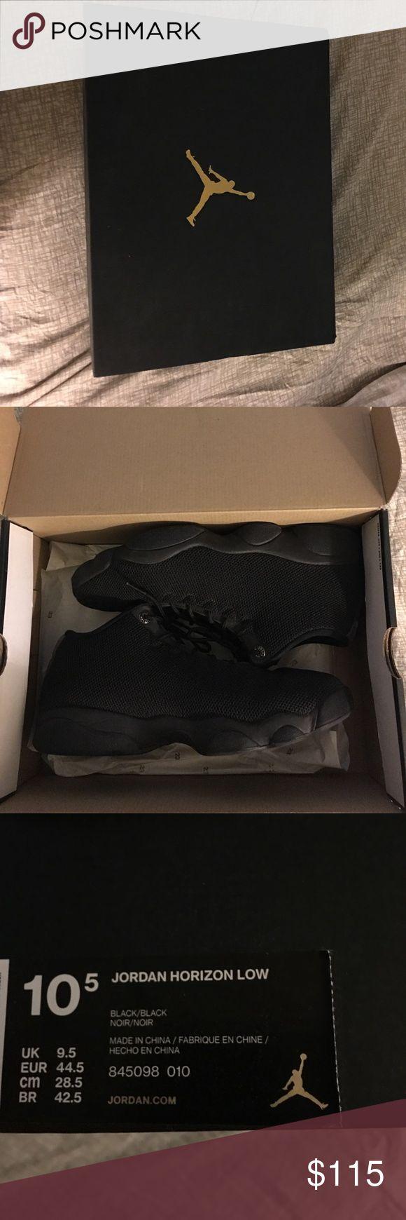 Air Jordan Horizon Low Top Black/Black Size 10.5 Jordan Shoes
