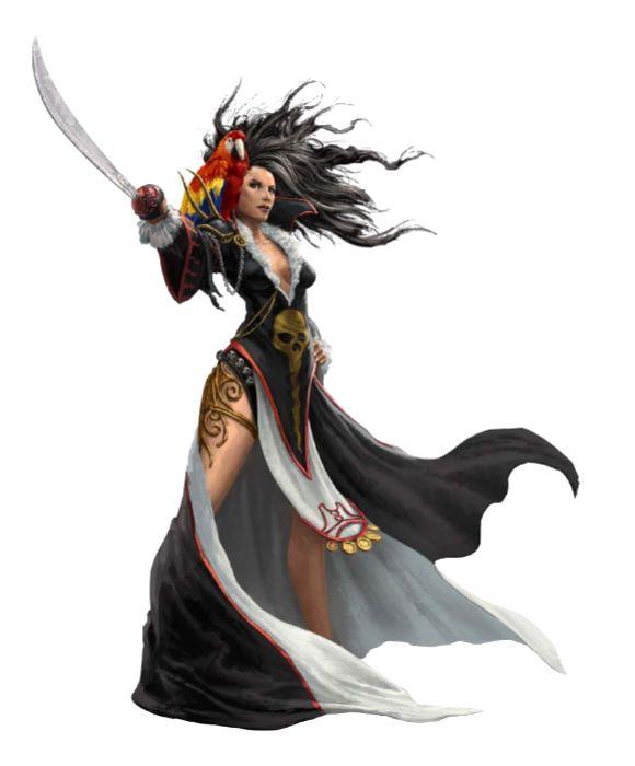 Female Besmara Pirate - Pathfinder PFRPG DND D&D d20 fantasy