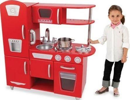 Kidkraft Rode vintage keuken, aanbieding - kinderkeuken - Kinderkeuken