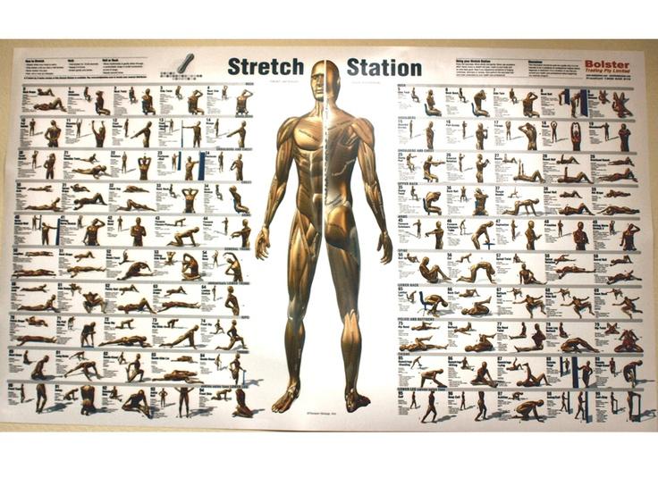 Stretching full body | Exercises - Full body tone | Pinterest