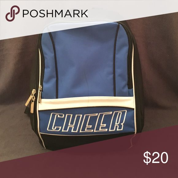 Chassé Cheer Backpack Blue, black, and white two pocket Chassé cheer backpack. In great condition just one mark on the front. Offers Welcome!❤️ Bags