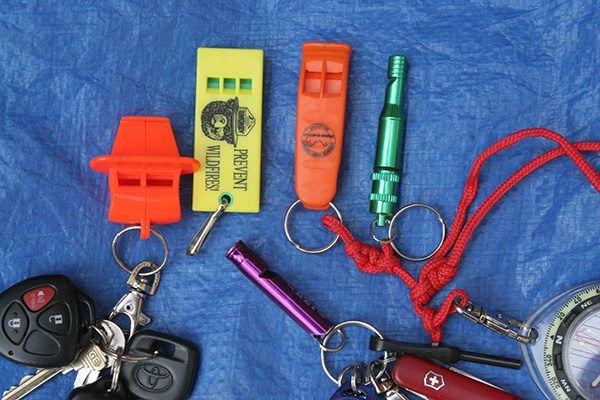 For Wilderness and Urban Safety: Attach a whistle to your child