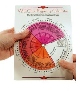 This pregnancy wheel enables swift calculation of projected birth dates, and includes useful general information on week-by-week fetal growth patterns and common pregnancy discomforts. It is completely free of product or company advertising.