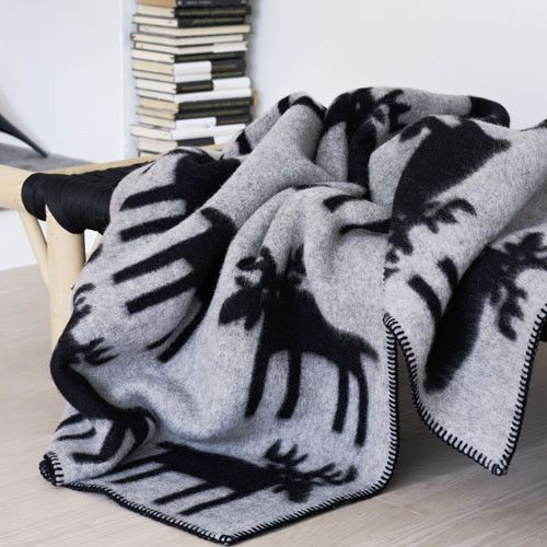 Elg Norwegian Wool Blanket by Røros Tweed $375 from @Lufina Wovens