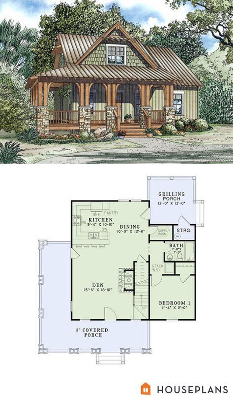 Superb Craftsman Cottage Plan 1300sft 3br 2 Ba Plan #17 2450 I WANT